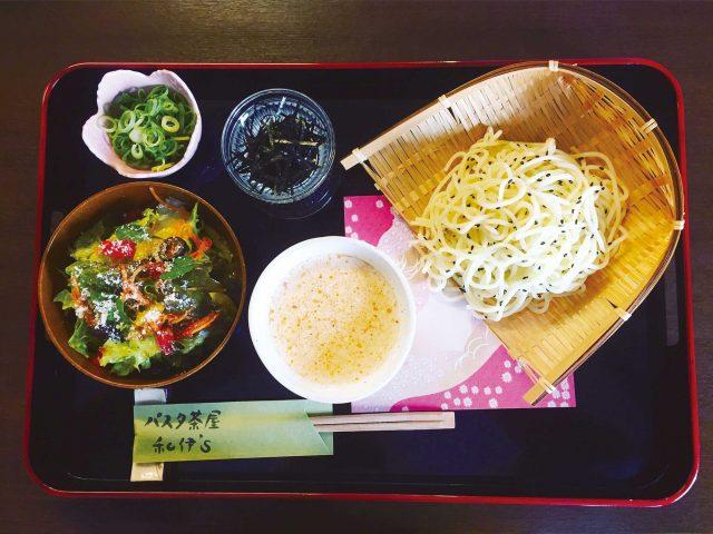 パスタ茶屋 和伊's 「冷製担々クリーム つけ麺スタイル」